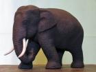 Elefant.Teaktræ.14cm.