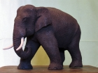 Elefant.Teaktræ.17cm.