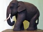 Elefant.Teaktræ.22cm.