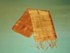 Silketørklæde . Gylden/orange