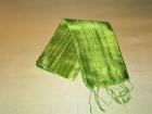 Silketørklæde . Limegrøn