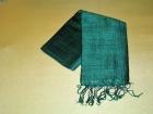 Silketørklæde . Mørk grøn.
