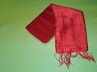 Silketørklæde . Rød.