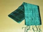 Silketørklæde . Grøn.